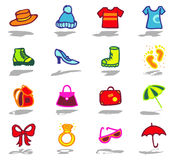 Accessories icons set royalty free stock image