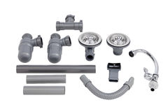 The accessories of kitchen sink Stock Image