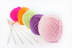Accessories for knitting Stock Photos
