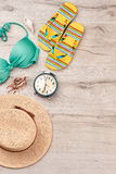 Accessories for marine summer resort. Royalty Free Stock Photography