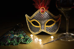 Accessories for the masquerade Royalty Free Stock Photos