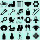 Accessories for Mom and Baby Stock Images