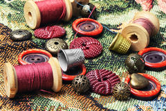 Accessories for needlework Stock Photography