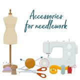 Accessories for needlework Stock Images