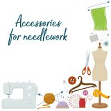 Accessories for needlework Royalty Free Stock Photography