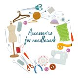 Accessories for needlework Stock Image