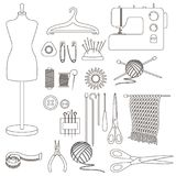 Accessories for needlework Royalty Free Stock Photo