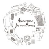 Accessories for needlework Stock Photo