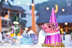Accessories for new year party. Hat Stock Photos