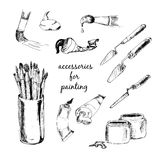 Accessories for painting Royalty Free Stock Photo