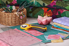 Accessories for patchwork Stock Photography