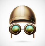 Accessories Pilot. (helmet and glasses), eps 10 Royalty Free Stock Image