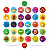 Accessories, rest, justice and other web icon in flat style., travel, tourism, hygiene icons in set collection. Royalty Free Stock Photo