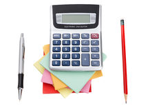 Accessories for school and office work. Royalty Free Stock Photo