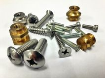 Accessories screw Royalty Free Stock Photos