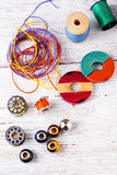 Accessories seamstress and needlework Royalty Free Stock Images