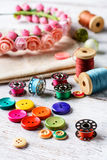 Accessories seamstress and needlework Stock Image