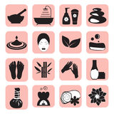 Accessories set for massage and spa Royalty Free Stock Photos
