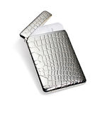 Accessories silver card case Stock Photos