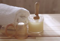 Accessories for spa procedures. Treatments at the spa Stock Image