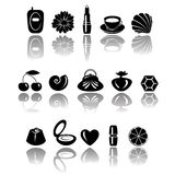 Accessories & sweets Stock Photography