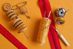 Accessories tailor. A small set Royalty Free Stock Photos