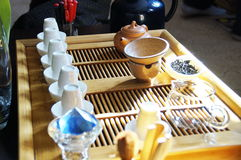 Accessories for tea ceremony Stock Photos