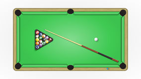 Accessories to a game in pool. Royalty Free Stock Photos