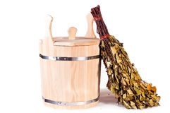 Accessories to sauna Stock Photography