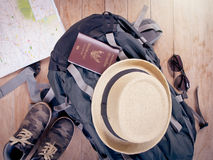 Accessories for travel concept. stock image