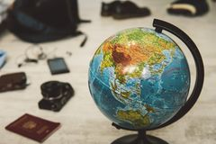 Preparing for an exotic trip, journey and sightseeing. Royalty Free Stock Images