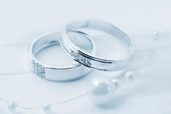 Accessories - two wedding rings Royalty Free Stock Images