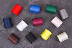 Accessories for using in sewing. Spools of thread. Accessories for using in sewing. Spools of colorful thread stock image