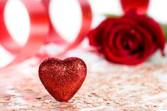 Post card to the St. Valentine's Day Stock Photo