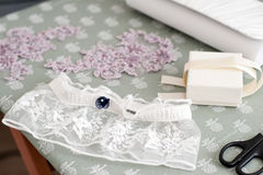 Accessories for the wedding dress Royalty Free Stock Image