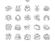 Accessories Well-crafted Pixel Perfect Vector Thin Line Icons 30 2x Grid for Web Graphics and Apps. Simple Minimal Pictogram Stock Photos