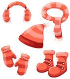 Accessories winter set Stock Images