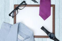 Accessories for work with whiteboard on the table Royalty Free Stock Photos