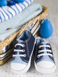 Accessories2. Shoes and clothes for a baby Royalty Free Stock Photo