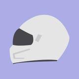 Accessorio bianco del cavaliere del motociclo della bici di protezione del casco Immagini Stock Libere da Diritti