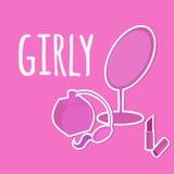 Accessorio cosmetico Girly Fotografia Stock Libera da Diritti