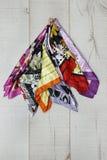 Accessorio, sciarpe, strutture differenti e colori Immagine Stock Libera da Diritti
