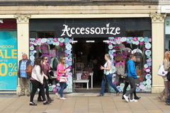 Accessorize brand store. EDINBURGH, SCOTLAND, UK - CIRCA AUGUST 2015: Accessorize brand store Royalty Free Stock Photos