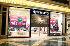 Accessorize closing. Accessorize shop at Euroma due shopping center in rome Royalty Free Stock Photo