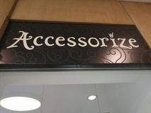 Accessorize store Stock Photography
