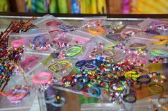 Accessory beads and tools for made ornament Stock Images
