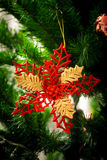 An accessory for decoration on  christmas tree Stock Photography