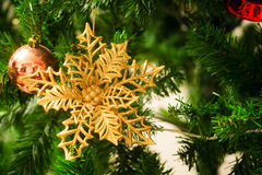 An accessory for decoration on  christmas tree Stock Images