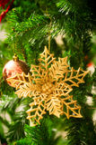 An accessory for decoration on  christmas tree Royalty Free Stock Photos