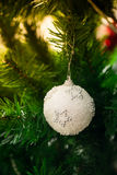 An accessory for decoration on  christmas tree Stock Photos